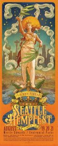 2016 Hempfest poster by cory and catska ench enchgallery dot com small 2