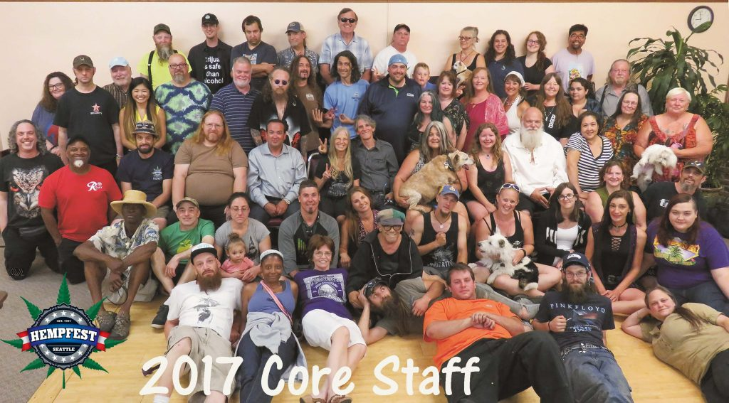 Seattle Hempfest 2017 Core Staff