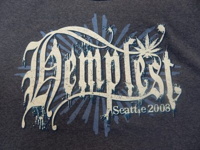 Tshirt, 2008, Seattle Hempfest® Logo, Blue