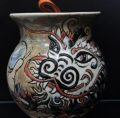 Pottery, Nug Jug, Chinese Dragon