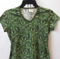 Reefer Camo, Women's Hemp V-Neck Tshirt – Discontinued
