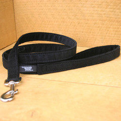"Hemp Corduroy Leash, ""Black"""