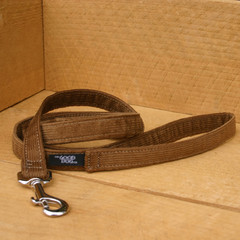 "Hemp Corduroy Leash, ""Brown"""