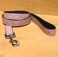 "Hemp Canvas Leash,  ""Pink Bones"""