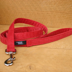 "Hemp Corduroy Leash, ""Red"""