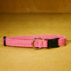 Hemp Cat, Toy Dog Collar, Pink