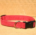 Collar, Hemp Corduroy, Red