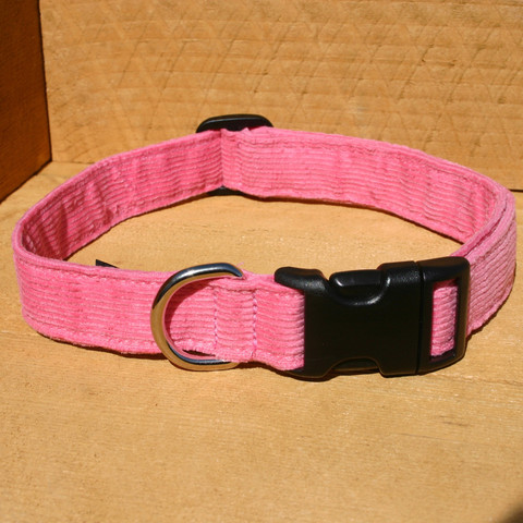 Collar, Hemp Corduroy, Pink
