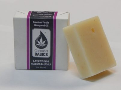 Cannabis Basics Lavender and Oatmeal Soap