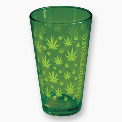 Stonerware, Cup, Green Leaves