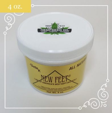Bette K's New Feet w/Hemp Oil