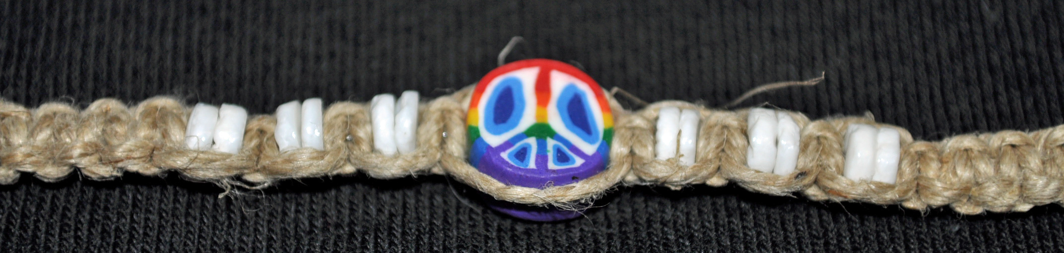 AFG Peace Sign Hemp Bracelet