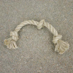 Dog Toy, Small, Triple-Knot Hemp Rope
