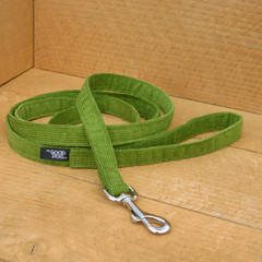 "Hemp Corduroy Leash, ""Avocado"""