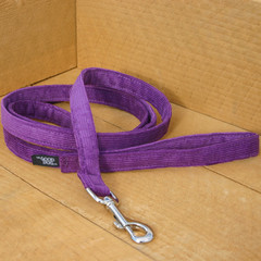 "Hemp Corduroy Leash, ""Purple"""
