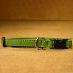 Hemp Cat, Toy Dog Collar, Green