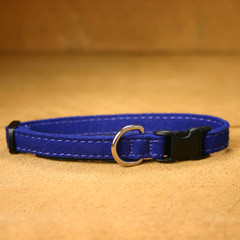 Hemp Cat, Toy Dog Collar, Blue