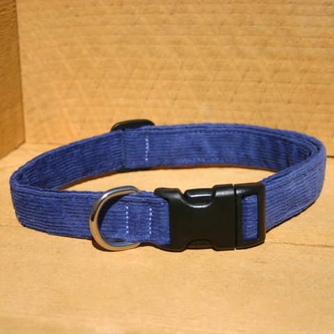 Collar, Hemp Corduroy, Blue