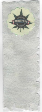 Hemp Paper Book Mark, Seattle Hempfest® Logo
