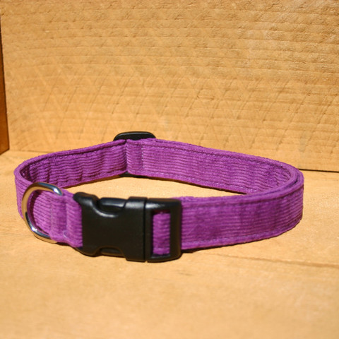 Collar, Hemp Corduroy, Purple