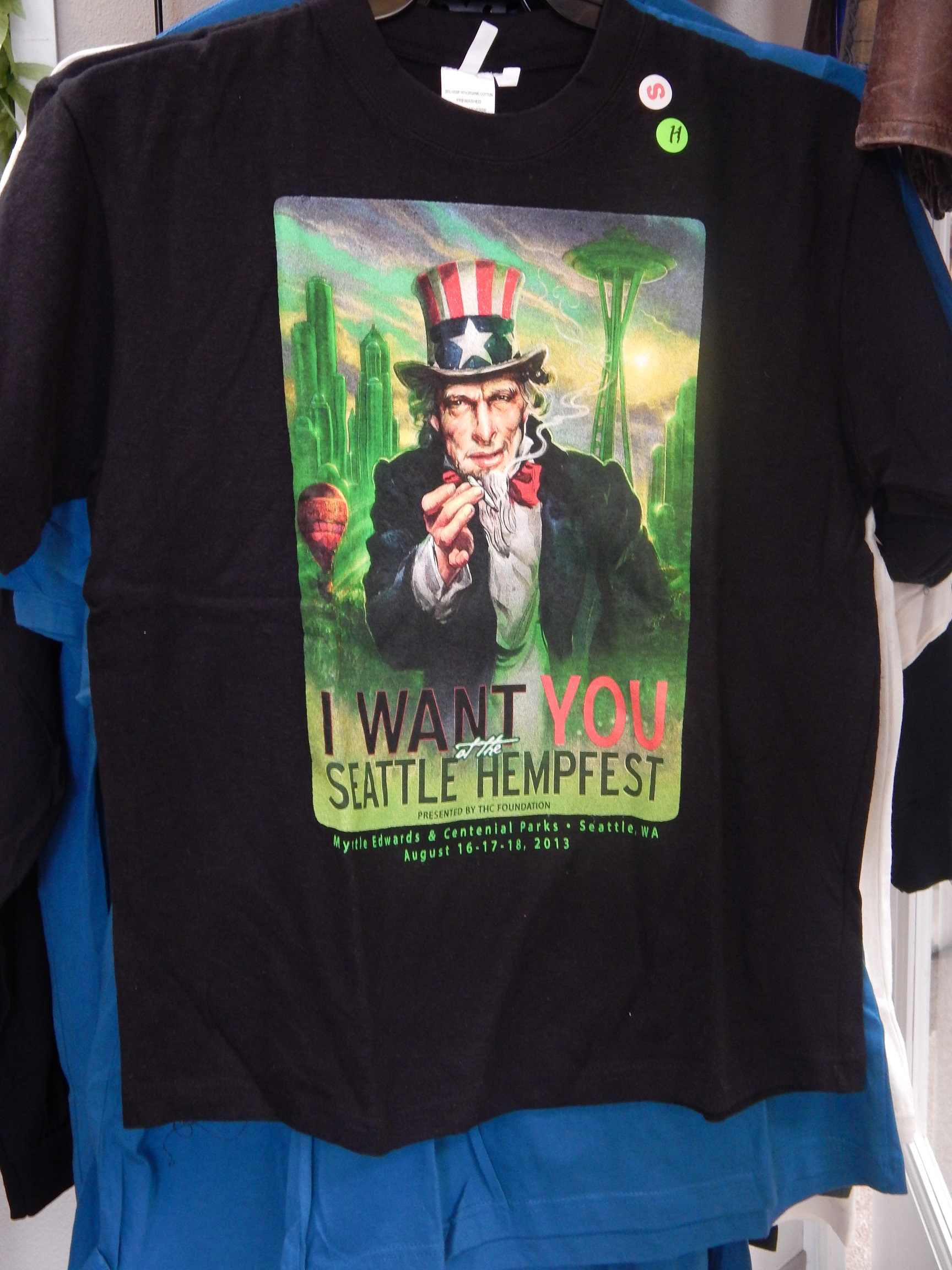 Tshirt, 2013, Uncle Sam, Hemp & Cotton