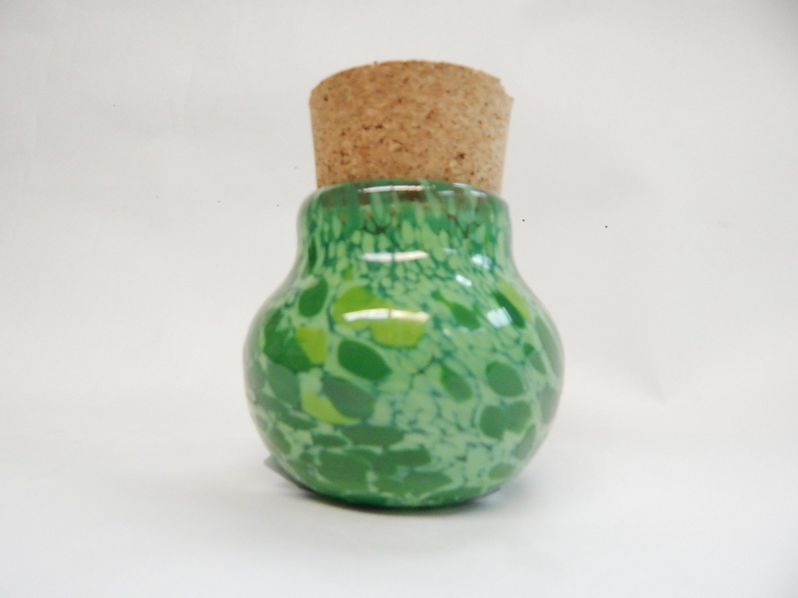 Jar, Nug Jug, Light Green Dots