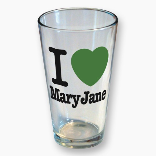 Stonerware, Cup, I Love Mary Jane