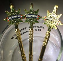 Gold Dab Stick with Seattle HEMPFEST® Logo