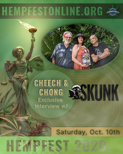 Seattle Hempfest LIVE on-line event, October 10-11, 2020 12 Noon PST